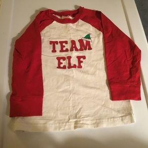 "Gymboree ""Team Elf"" Long Sleeve T-shirt. Size 2T"